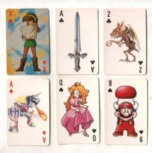 Collectable vintage playing cards Nintendo computer games